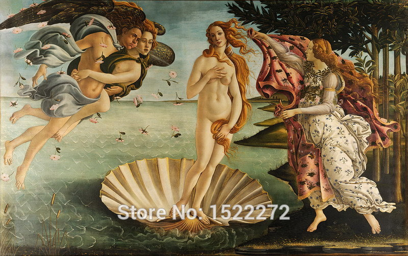 Canvas-Painting-Wall-font-b-Art-b-font-Home-Decoration-The-Birth-of-Venus-1-by